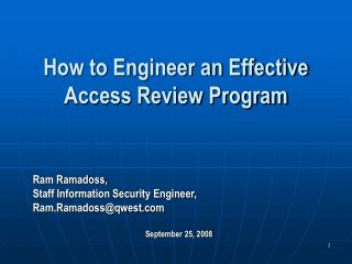 How to Engineer an Effective Access Review Program