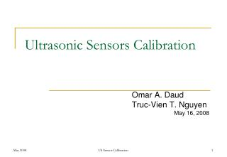 Ultrasonic Sensors Calibration