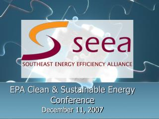 EPA Clean & Sustainable Energy Conference