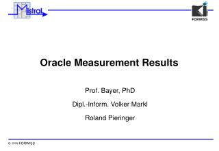 Oracle Measurement Results