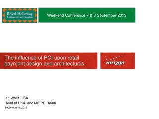The influence of PCI upon retail payment design and architectures