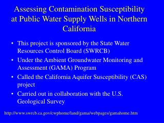 This project is sponsored by the State Water Resources Control Board (SWRCB)