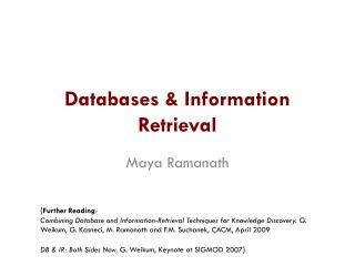 Databases & Information Retrieval