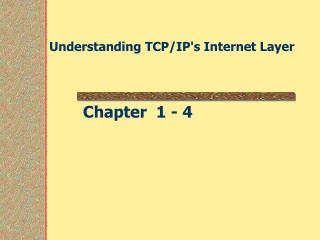 Understanding TCP/IP's Internet Layer
