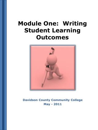 Module One:  Writing Student Learning Outcomes