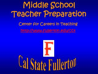 Middle School Teacher Preparation
