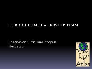 Curriculum Leadership Team
