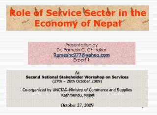 Role of Service Sector in the Economy of Nepal