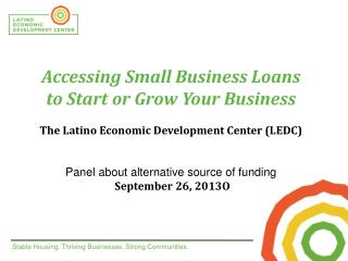 Accessing Small Business Loans  to Start or Grow Your Business