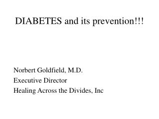 DIABETES and its prevention!!!