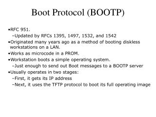 Boot Protocol (BOOTP)
