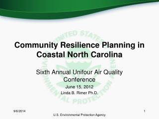 Community Resilience Planning in Coastal North Carolina