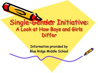 Single-Gender Initiative : A Look at How Boys and Girls Differ