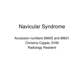 Navicular Syndrome