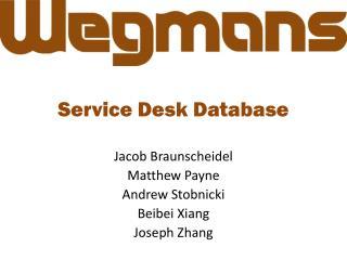 Service Desk Database
