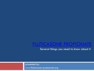 Fluticasone Propionate - www.fluticasone-propionate.org