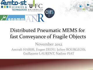 Distributed Pneumatic MEMS for fast Conveyance of Fragile Objects