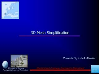 3D Mesh Simplification