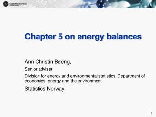 Chapter 5 on energy balances
