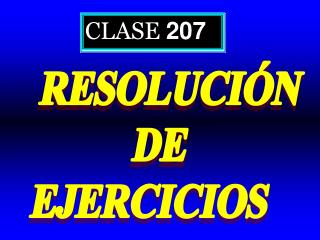 CLASE  207