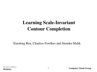 Learning Scale-Invariant  Contour Completion