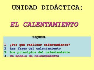 UNIDAD DIDÁCTICA: EL CALENTAMIENTO