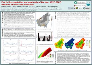 Fire in the vegetation and peatlands of Borneo, 1997-2007:   Patterns, Drivers and Emissions