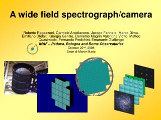 A wide field spectrograph/camera