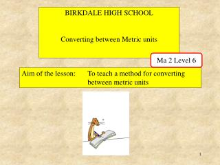 BIRKDALE HIGH SCHOOL Converting between Metric units
