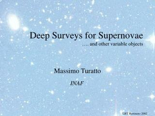 Deep Surveys for Supernovae …. and other variable objects