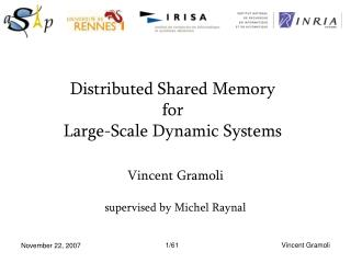 Distributed Shared Memory for  Large-Scale Dynamic Systems