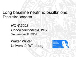 Long baseline neutrino oscillations: Theoretical aspects