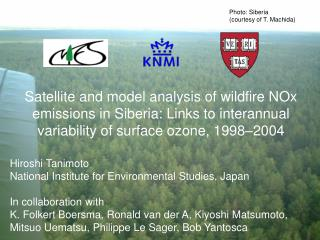 Hiroshi Tanimoto  National Institute for Environmental Studies, Japan In collaboration with