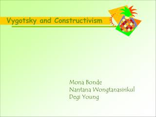 Vygotsky and Constructivism