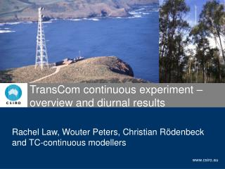 TransCom continuous experiment – overview and diurnal results