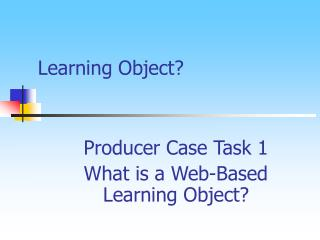 Learning Object?