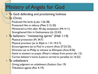 Ministry of Angels for God
