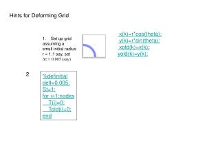 Hints for Deforming Grid