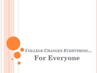College Changes Everything…