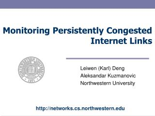 Monitoring Persistently Congested Internet Links