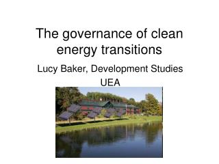 The governance of clean energy transitions