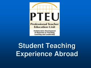 Student Teaching Experience Abroad