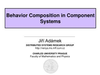 Behavior Composition in Component Systems