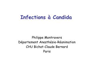 Infections à Candida