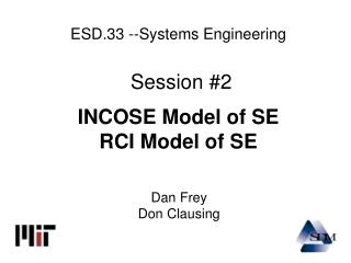 ESD.33 --Systems Engineering