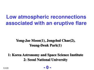 Low atmospheric reconnections associated with an eruptive flare