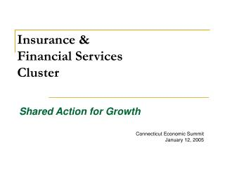 Insurance & Financial Services  Cluster