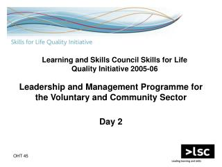 Leadership and Management Programme for the Voluntary and Community Sector