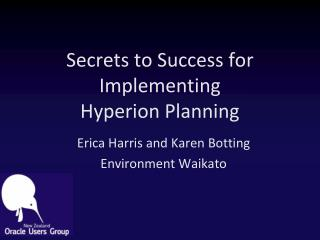 Secrets to Success for Implementing Hyperion Planning