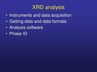 XRD analysis